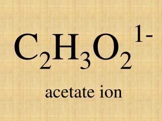 acetate ion