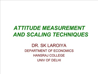 ATTITUDE MEASUREMENT   AND SCALING TECHNIQUES