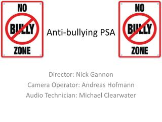 Anti-bullying PSA