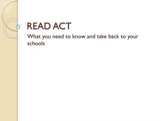 READ ACT