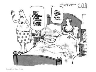 Acute Vision Loss No laughing matter…