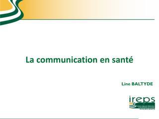 La communication en santé