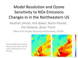 Model Resolution and Ozone Sensitivity to NOx Emissions Changes in in the Northeastern US
