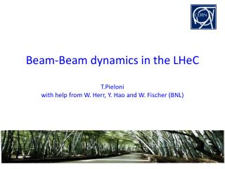 Beam-Beam  dynamics in the  LHeC T.Pieloni with help from W. Herr, Y.  Hao  and W .  Fischer (BNL)