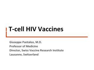T-cell HIV  Vaccines