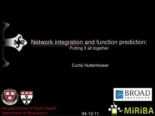 Network integration and function prediction: Putting it all together