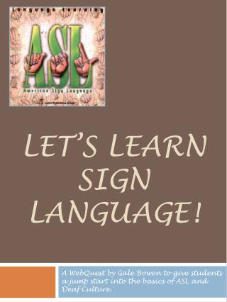 Let's learn sign language!