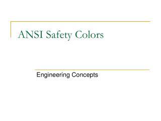 ANSI Safety Colors