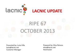 LACNIC UPDATE