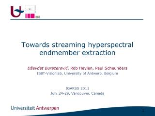 Towards streaming hyperspectral endmember extraction