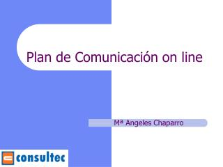 Plan de Comunicación on line