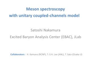 Meson spectroscopy  with  unitary coupled-channels model