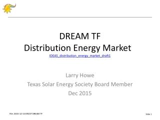 D REAM TF Distribution Energy Market IDEAS_distribution_energy_market_draft1