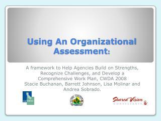 Using An Organizational Assessment :