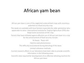 African yam bean