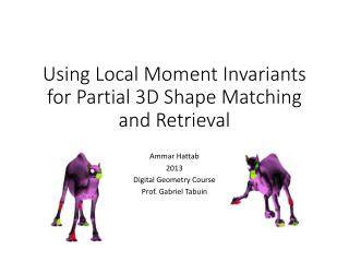 Using Local Moment Invariants for Partial 3D Shape Matching and Retrieval