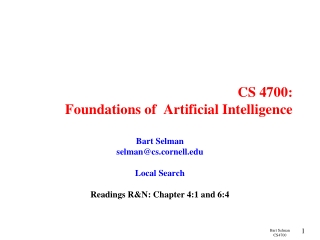 Introduction To  Informed Search  A