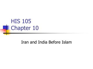 HIS 105 Chapter 10