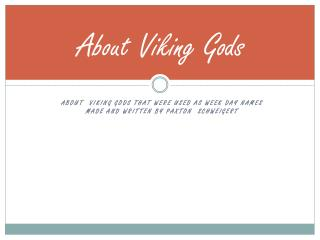 About Viking Gods