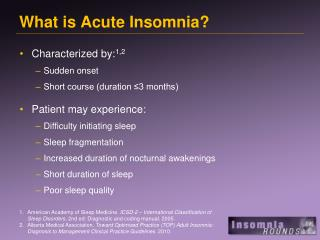 What is Acute Insomnia?