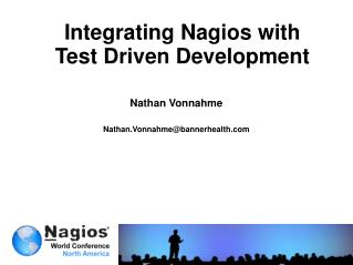 Integrating Nagios with Test Driven Development