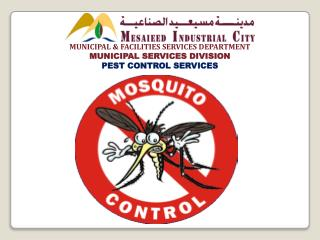MUNICIPAL & FACILITIES SERVICES DEPARTMENT MUNICIPAL SERVICES DIVISION PEST CONTROL SERVICES