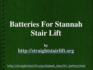 Stannah Stairlift Battery