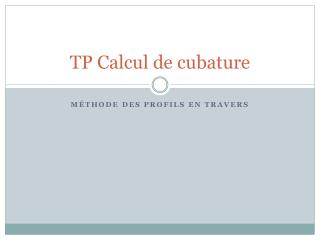 TP Calcul de cubature