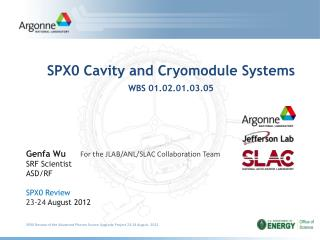SPX0 Cavity and Cryomodule Systems WBS  01.02.01.03.05