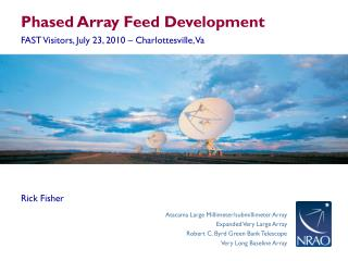 Phased Array Feed Development