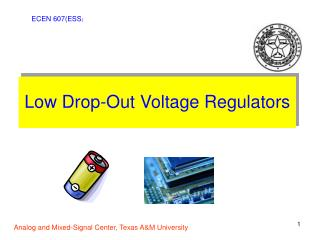 Low Drop-Out Voltage Regulators