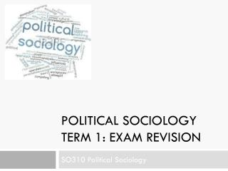 Political Sociology term 1: exam revision