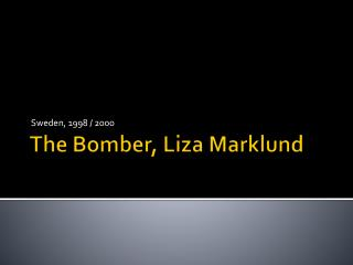 The Bomber, Liza  Marklund