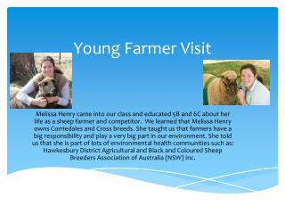 Young Farmer Visit