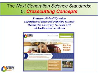 The  Next Generation Science Standards :  5.  Crosscutting Concepts