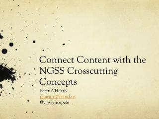 Connect Content with the NGSS Crosscutting Concepts