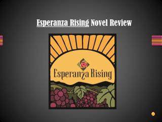 Esperanza Rising  Novel Review
