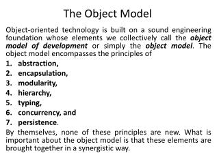 The Object Model