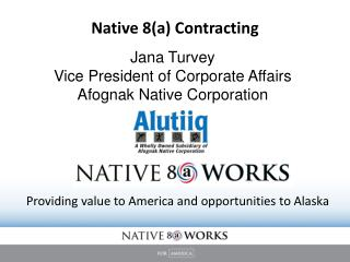 Native 8(a) Contracting