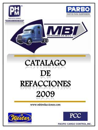 CATALAGO         DE         REFACCIONES 2009