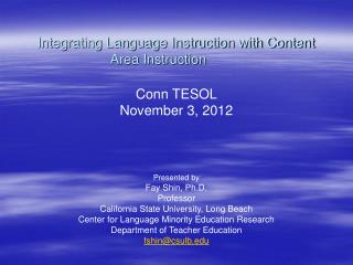 Integrating Language Instruction with Content Area Instruction