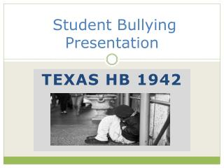 Student Bullying Presentation