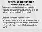 DERECHO TRIBUTARIO ADMINISTRATIVO