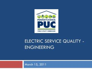 Electric Service Quality - engineering