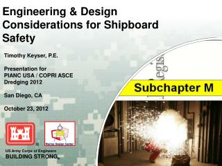 Engineering & Design Considerations for Shipboard Safety