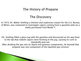 The History of Propane The Discovery