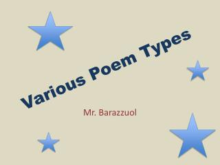 Various Poem Types