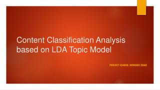 Content Classification Analysis based on LDA Topic Model