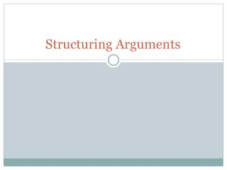 Structuring Arguments