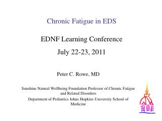 Chronic Fatigue in EDS